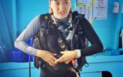 The World's first Mongolian PADI Open Water Scuba Diving Instructor