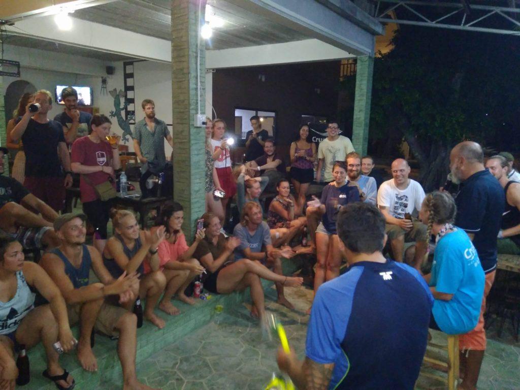crystaldive.com thailand -koh-tao-snorkel-test-divemaster-crowd