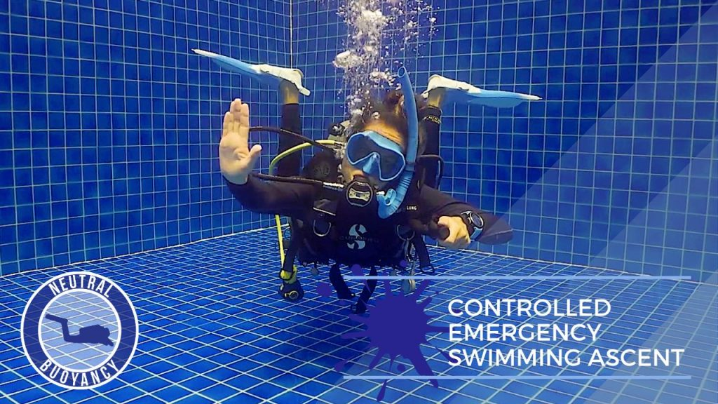 idckohtao.com divemaster skills in neutrally buoyant Controlled Emergency Swimming Ascent