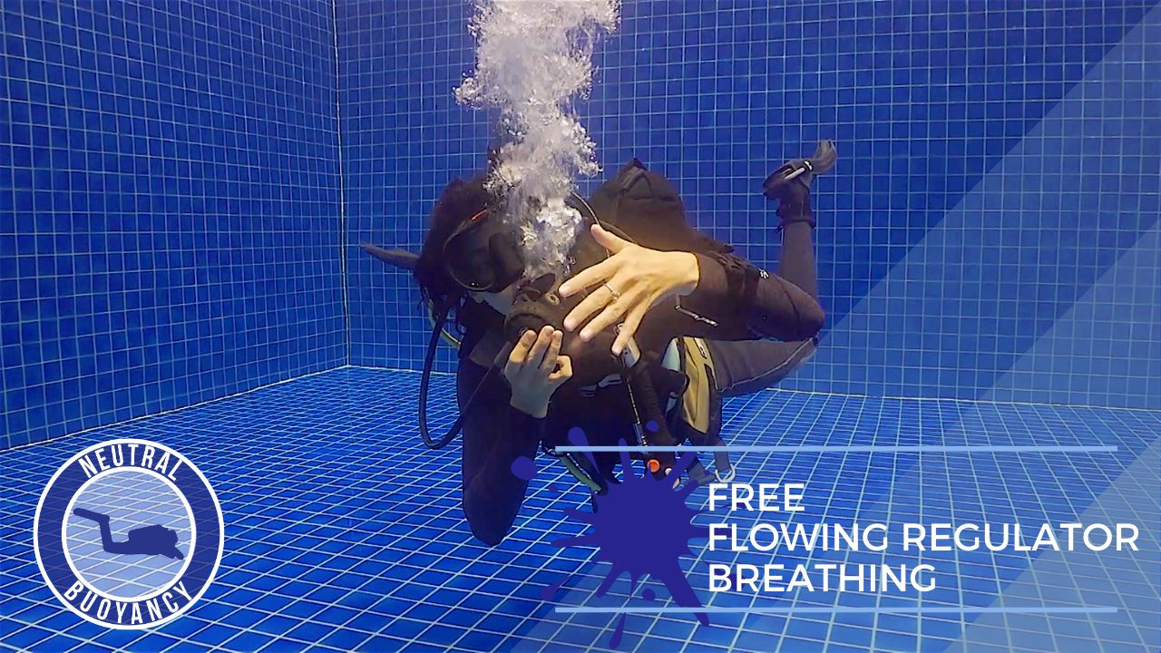 idckohtao.com divemaster skills in neutrally buoyant Free flowing regulator breathing