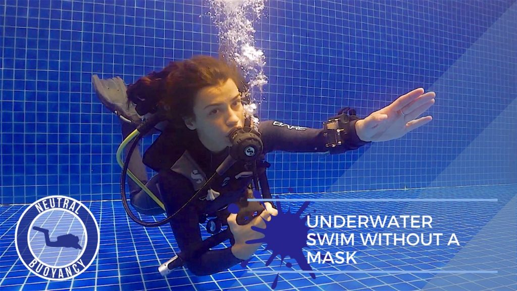 idckohtao.com divemaster skills in neutrally buoyant Underwater swim without a mask